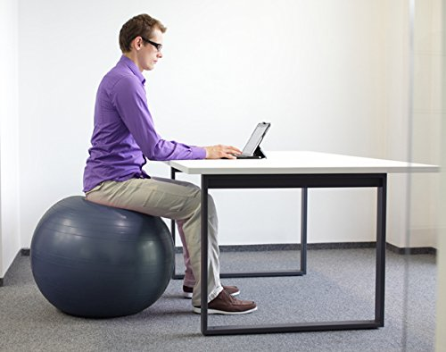 Exercise stability ball by pavandeep 2000lbs anti burst - Replacing office chair with exercise ball ...