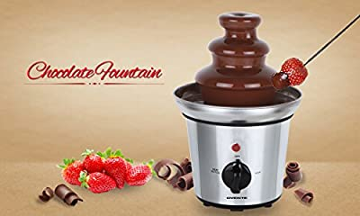 Ovente CF Two-Tier Stainless Steel Party Chocolate Fondue Fountain