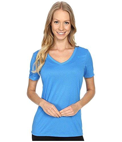 Nike Women's Legend V-Neck 2.0 Short Sleeve Training Shirt Lt Photo Blue (XS)