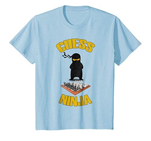 Kids Funny Chess Ninja T-shirt Grandmaster Game Geek Nerd Gift 8 Baby Blue -