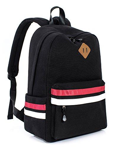 Leaper Classic Laptop Backpack Travel Bag School Backpack Daypack 14-Inch Black