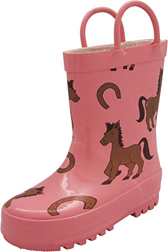 NORTY - Toddler Girls Ponies Print Waterproof Rainboot, Pink 40930-7MUSToddler