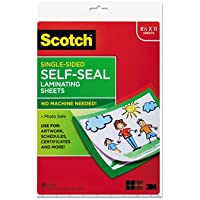 Self-Sealing Laminating Sheets, 6.0 mil, 8 1/2 x 11, 10/Pack, Sold as 1 Package, 10 Each per Package