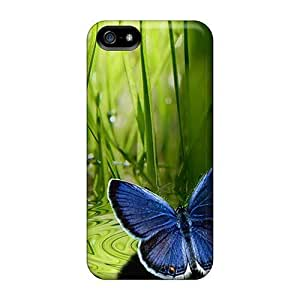 Hot Blue Butterfly First Grade Tpu Phone Case For Iphone 5/5s Case Cover