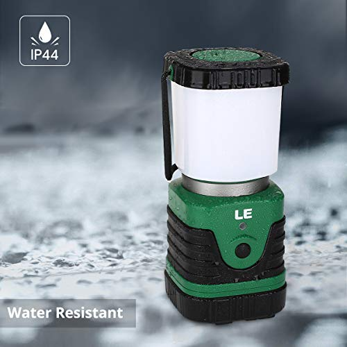 LED Camping Lantern Rechargeable, 1000LM, 4 Light Modes, 4400mAh Power Bank, IPX4 Waterproof, Perfect Lantern Flashlight for Hurricane Emergency, Hiking, Home and More, USB Cable Included by LE