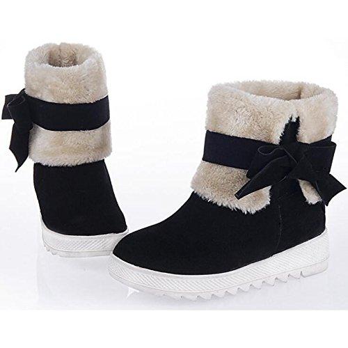 cuña primavera otoño confort botines Rojo HSXZ de botas de Camel Casual Negro Nubuck de talón de Red de Zapatos mujer botas Cuero botines nieve w0xqxYZa8