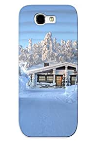 Hot Style OWrOBhb2951OikTH Protective Case Cover For Galaxynote 2(snowed In Mountain Cabin ) For Thanksgiving Day's Gift
