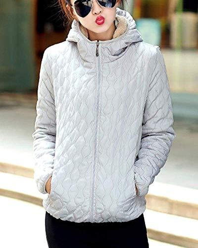 Chic Capuche Capuche Blouson Casual Veste Longues Femme Unicolore Gaine Automne El Manches Hiver A A Mode Quilting Fashion a4Sw5FPq
