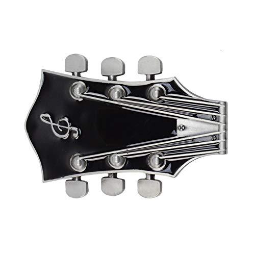 MarryAcc Vintage Music Guitar Head Belt Buckle Gift for Musician (Black) - Guitar Belt Buckle