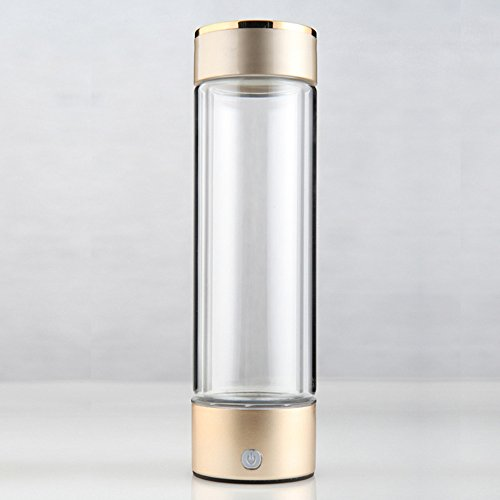 YEEMEEL hydrogen Rich Water Maker Fucntional Water Bottle Glass Hydrogen Water Generator Water Ionizer 250ml (250ml) by BOEN
