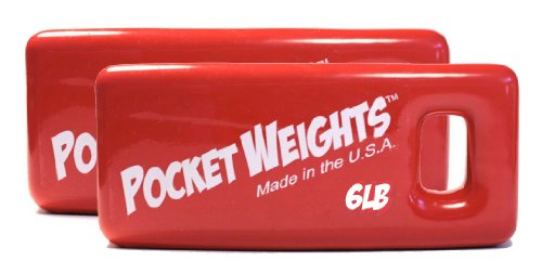 Pocket Weights 12Lb. (2 x 6lb) BCD Scuba (Bcd Weight Pocket)