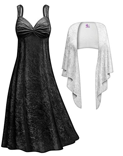Sanctuarie Designs Cruella Plus Size Supersize Halloween Costume Dress & Shawl Only -