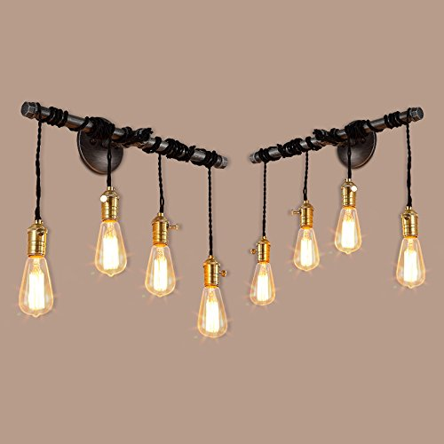 sconce industrial vintage light wall antique outdoor glass balcony bulb lamps lamp edison dp adjustable