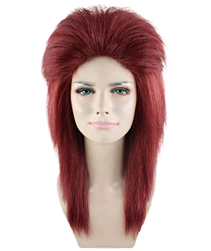 80s Dark Auburn Rock Diva Wig Adult - Costumes Diva Halloween