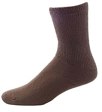 Men's Comfortable Short Brown Diabetic Socks 3-pack