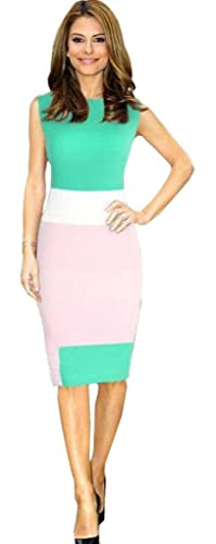 Amoin Womens Business Party Cocktail Pencil Dress