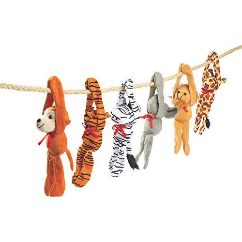 Fun Express - Plush Long Arm Zoo Animals W/Velcro Paws - Toys - Plush - Long Arm Plush - 12 Pieces ()