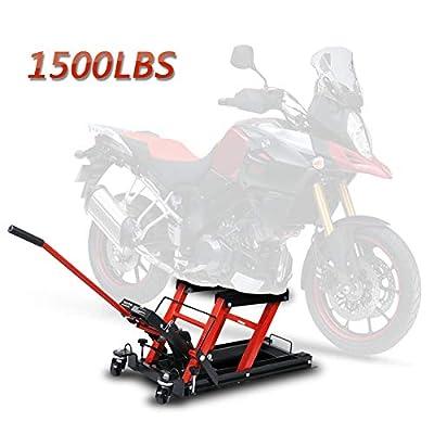 F2C® 1500 LB Hydraulic Motorcycle/ATV Jack Lift Hoist Jacks Repair Bike Auto Hoists