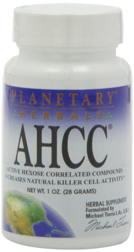 Planetary Herbals AHCC Active Hexose Correlated Compound Powder, Increases Natural Killer Cell Activity,1 Ounce by Planetary Herbals