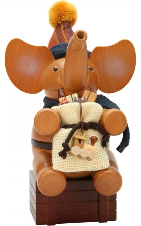 ULBR 1-492 Christian Ulbricht Incense Burner - Santa Elephant, Natural by ULBR