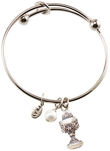 Cathedral Art PRB234 Communion Silver Bangle with Chalice...