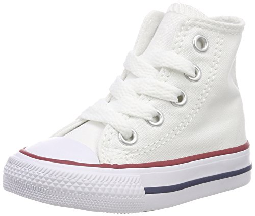 Converse Kids Baby Chuck Taylor All Star Core Hi (Infant/Toddler), Optical White, 3 M