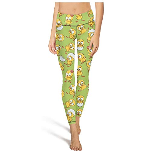 cute chick egg hatching womens Printed stretchy yoga leggings leggings outfit -