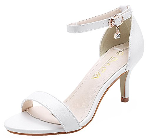 4eb21b9f8cc hot sale 2017 IDIFU Women s Sexy Pendant Ankle Strap Buckle Stiletto Kitten Heel  Sandals Open Toe