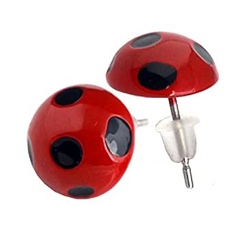 Miraculous Ladybug Rings,Earrings,Necklace,Cufflink Cat Noir Cosplay Jewelry Earring A