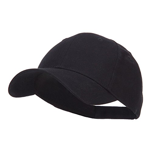 Youth Brushed Cotton Twill Low Profile Cap - Black OSFM ()