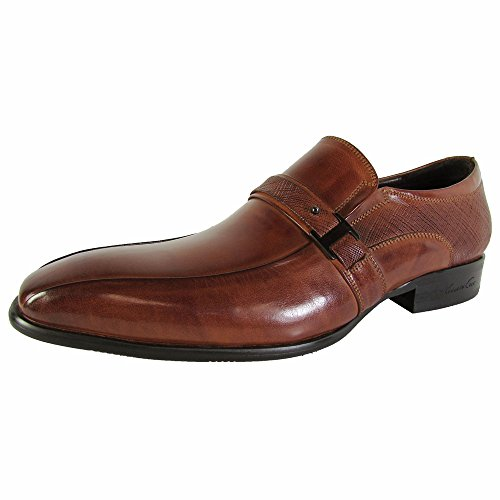 Kenneth Cole New York Heren Bling It Home Le Slip Op Loafer Schoenen Cognac