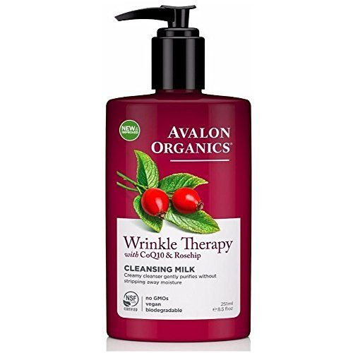 Avalon Organics Organic Massage Oil (Avalon Organics Wrinkle Therapy CoQ10 Cleansing Milk, 8.50 oz (Pack of 3))