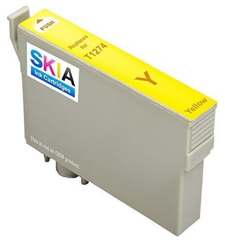 Skia Ink Cartridges ¨ Yellow Single Pack Compatible with Epson 127(T127120 T127220 T127320 T127420) for WorkForce 545, WorkForce 630, WorkForce 645, WorkForce 845, WorkForce WF-3520, WorkForce WF-3540, WorkForce WF-7520