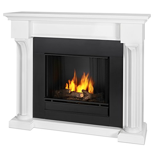 Real Flame Verona Indoor Gel Fireplace in White (Gel Fireplace Mantel compare prices)