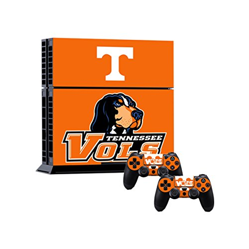 ASG Orange Football Team Theme PlayStation 4 Skin PS4 Console Controller Vinyl Decal Sticker Set Volunteers by ASG