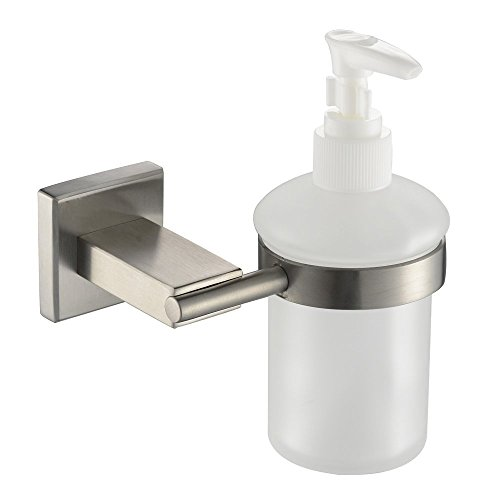 Comfort's Home 30405S Modern Bathroom Accessory Wall Mounted Glass Shower Soap Dispenser, Brushed by Home Comforts