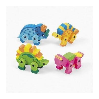 12 Dinosaur Movable Erasers