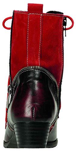 Femme noir Pour Rouge Miccos Bottes E1wPqPF