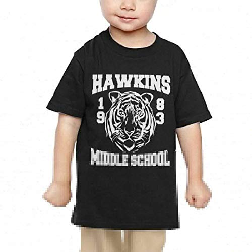 Price comparison product image Pipi66xiami Kids Hawkins Middle School 1983 Club Unisex Infants Crew Neck Short Sleeve Tee