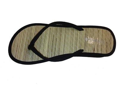 """New Bamboo Sandals Womens Flip Flops Flats Shoe Velvet Thongs Beach Summer Heel 3/4 """""""
