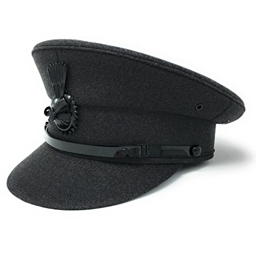 Cotswold Country Hats Chauffeur Hat Cap for Men Women Unisex. Quality Driving Cap. Lined. Sturdy. Black or Grey (62cm/24.40