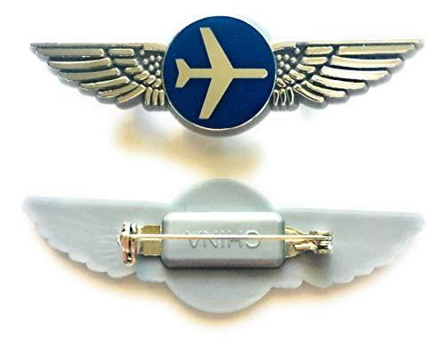 Aviator Kids Airplane Pilot Wings Plastic Pins Pinbacks Badges Lot of 2 Silver
