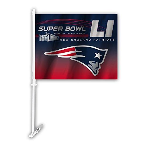 NFL New England Patriots Super Bowl 51 Bound Car Flag, 11.5
