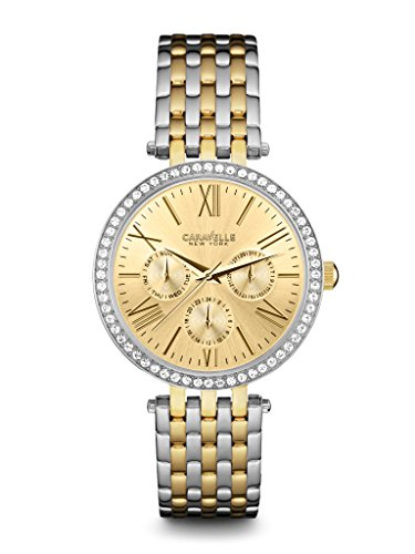 Caravelle New York Women's 45N100 Analog Display Japanese Quartz Two Tone Watch ()