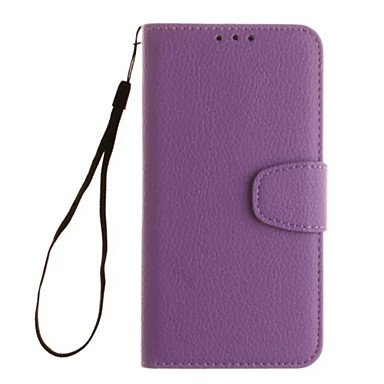 Litchi Grain Wallet Stand Shell Cover PU Leather With Cash Card Holder Phone Case For Samsung S5 Mini/S4 Mini/S3 Mini ( Color : Blue , Compatible Models : Galaxy S4 Mini )