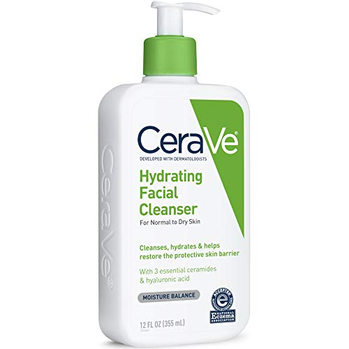 CeraVe Hydrating Facial Cleanser, 12 Ounces each (1 Pack)