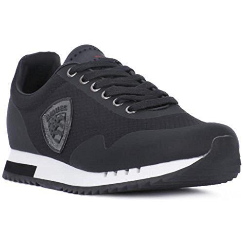 Eco Black Uomo Blauer Pelle Sneakers Black XqP665Ew