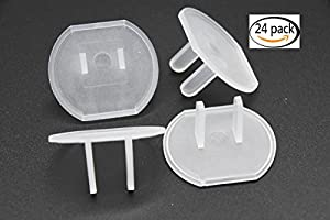 Youkwer Baby Safety Outlet Plugs Covers,Child proof Plug Protectors,24 Count Clear