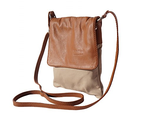 Light Very leather Ashley Soft Leather Taupe Crossbody Shoulder Italian Bag Small LaGaksta 7zw5aqa