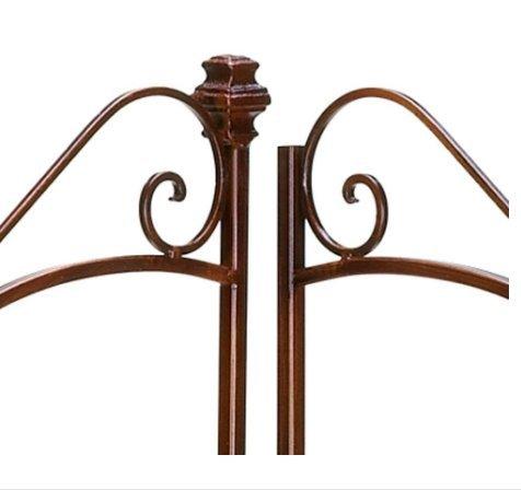 HomyDelight Rustic Corner Bakers Rack style Wood and metal 14'' x 14'' x 47'' high